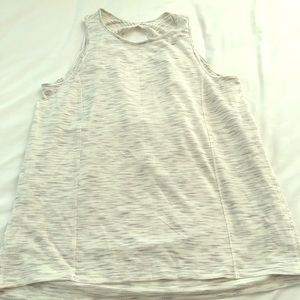 Cream colored workout tank